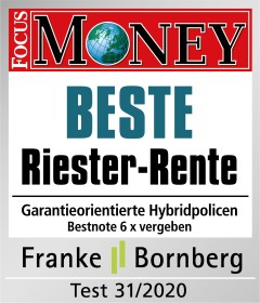 FocusMoney Beste RiesterRente