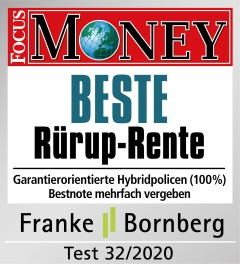 FocusMoney Beste RürupRente FVG09